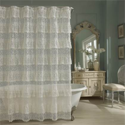 shabby-chic-ivory-lace-shower-curtain