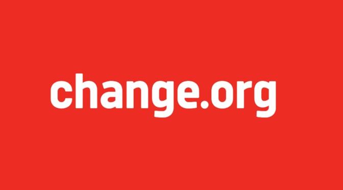 Mi dispiace ma Change.org va fermata, la raccolta di firme è irregolare.