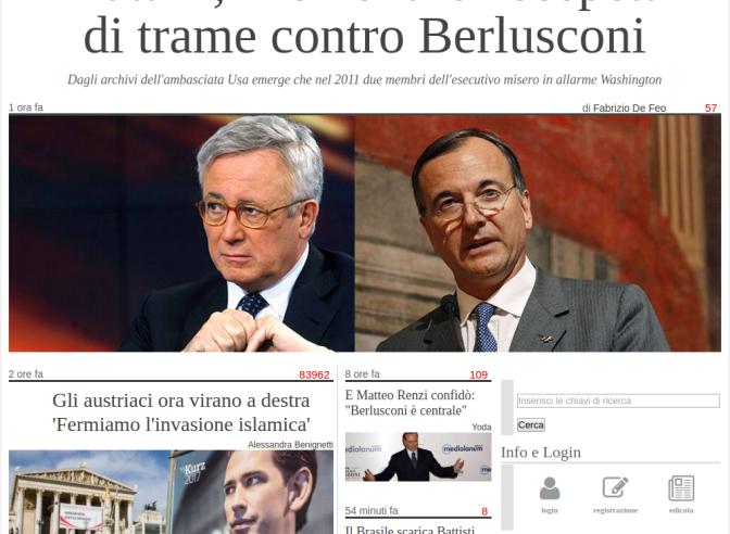Rassegna Stampa 13 Ottobre: Rosatellum2, Berlusconi, ONG trafficanti, USA, Palestina, Austria e Svezia…