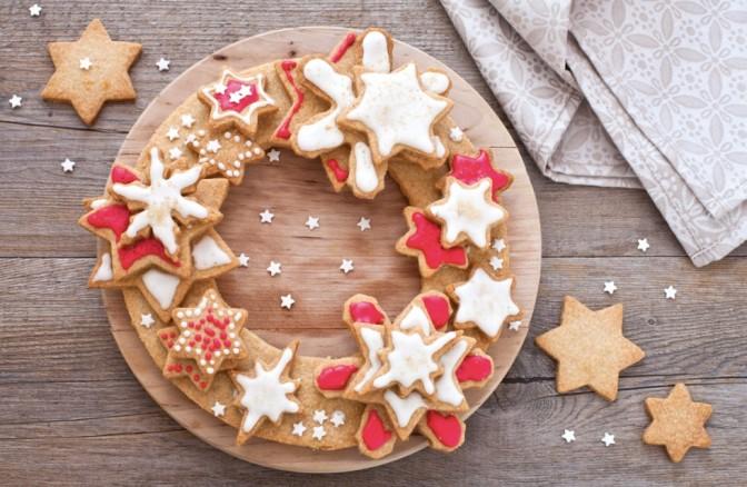 Cominciamo col Natale. Corona di… Biscotti.