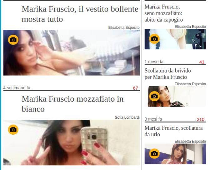 Quiz del mese: di chi è l'Amante Marika Fruscio stavolta da meritarsi tutte ste foto sul Giornale?