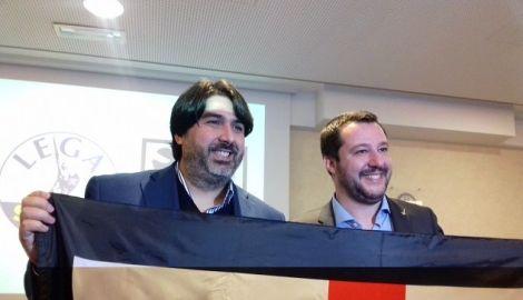 Christian Solinas con Matteo Salvini