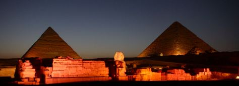 PyramidsofGiza_at_night