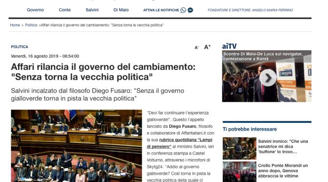 Salvini – DiMaio: tentare la Pace Armata?