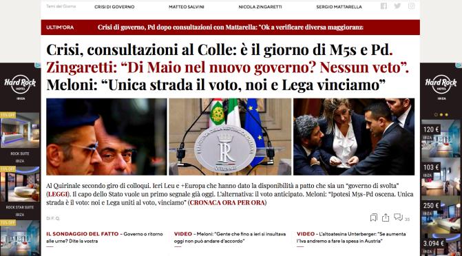 Caro Movimento 5 Stelle: Accettate la mano di Salvini. Zingaretti già si crede PM e tratta DiMaio dall'alto in basso…