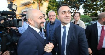 Gianluigi Paragone con Luigi DiMaio