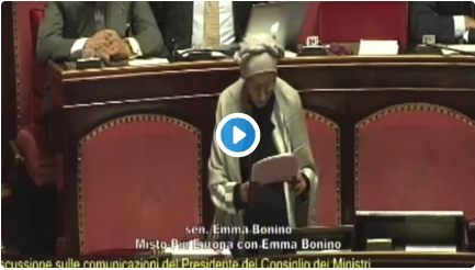 Si, onore anche a Emma Bonino. Voterà NO all'inciucio bis.