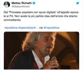 Richetti Vs. Beppe Grillo