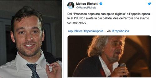 I motivi di Richetti. No al Governo dal PD.