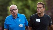 Rupert Murdoch con il figlio Lachlan