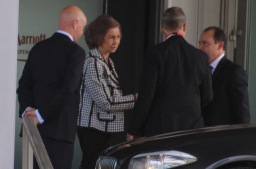 l'ex Regina di Spagna Sofia al Bilderberg di Copenhagen - Danimarca