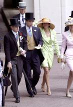 Ghislane Maxwell col principe Andrea ospite regolare a Buckingham Palace