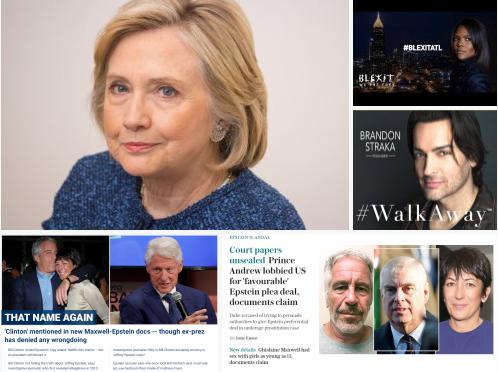 La Corruzione dei Clinton: Hillary vuole il voto postale universale (per truccarlo) e Bill era ospite frequente del bordello per prostitute minorenni. Sono finiti. ? .
